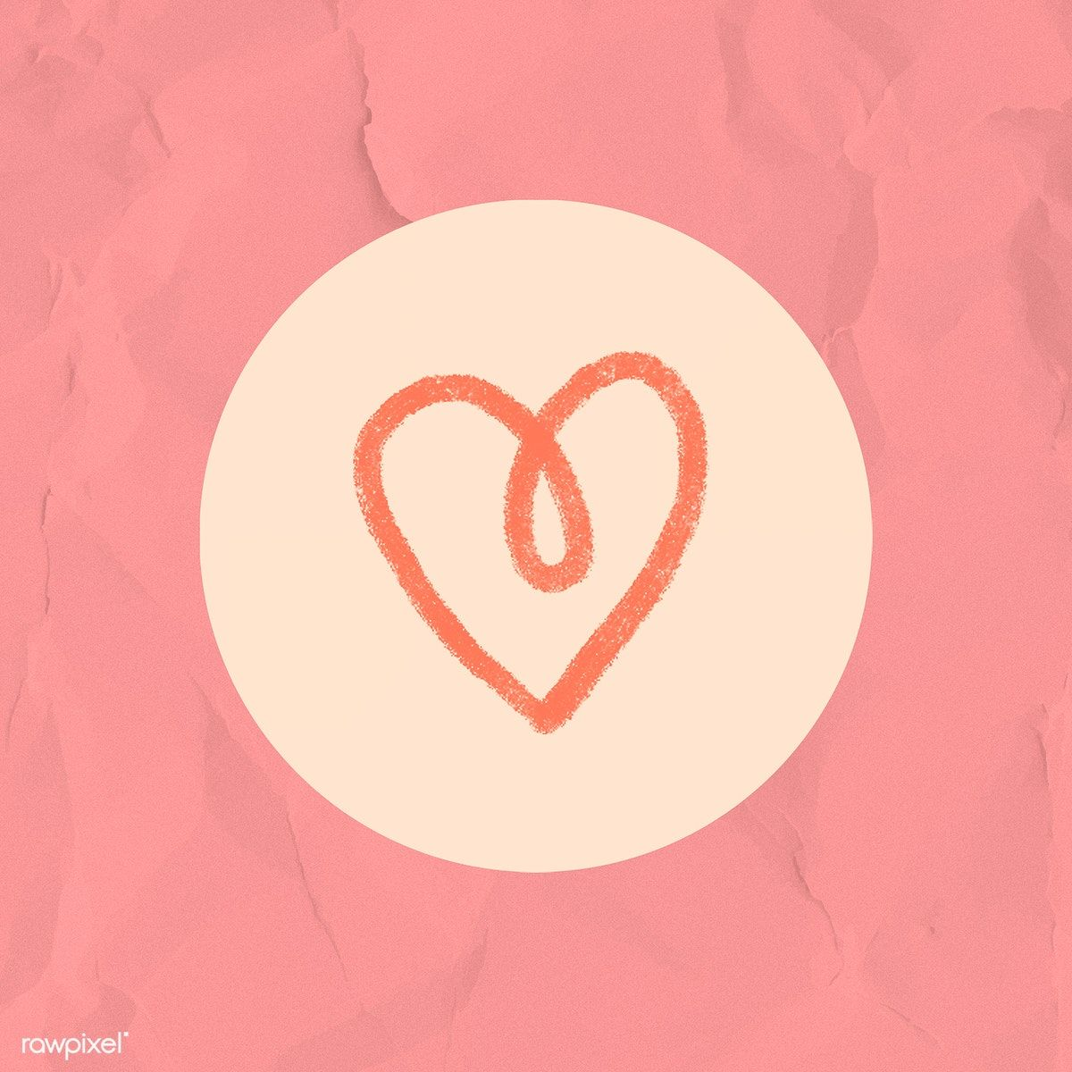 Instagram story highlight heart icon illustration free