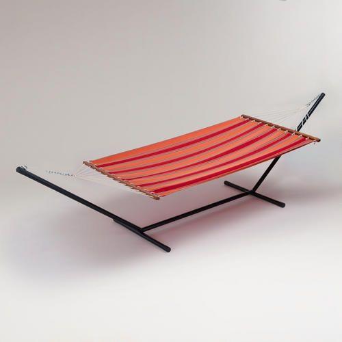 stripe canvas hammock and stand set  130 stripe canvas hammock and stand set  130   outdoor space      rh   pinterest