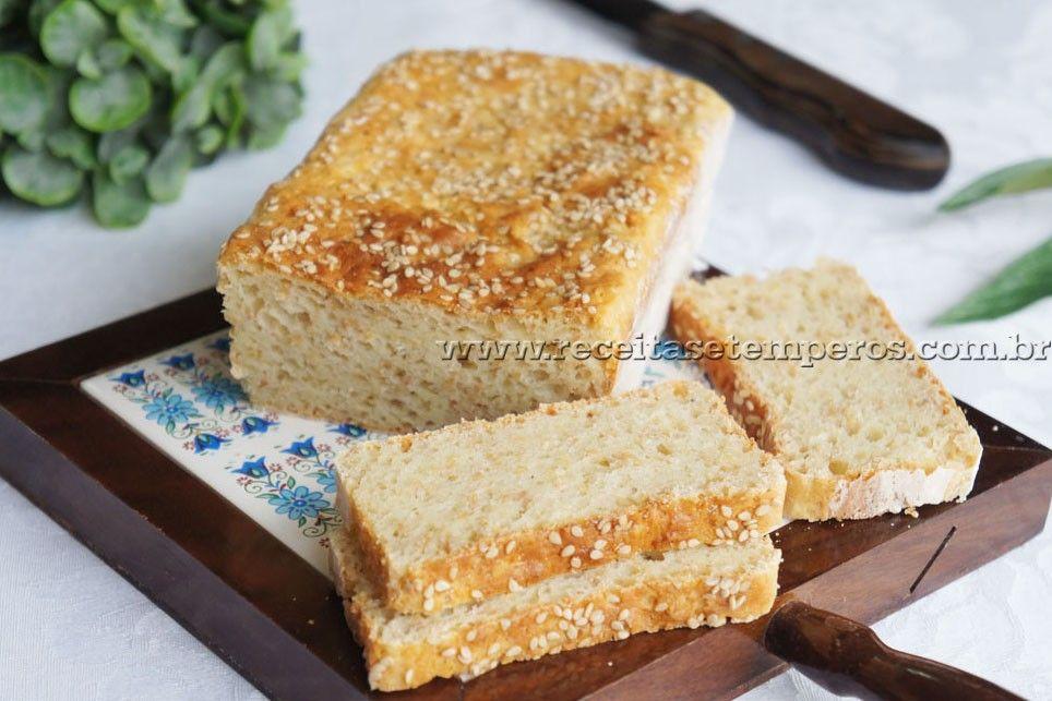 Pão de Leite com Linhaça sem glúten | Receitas e Temperos