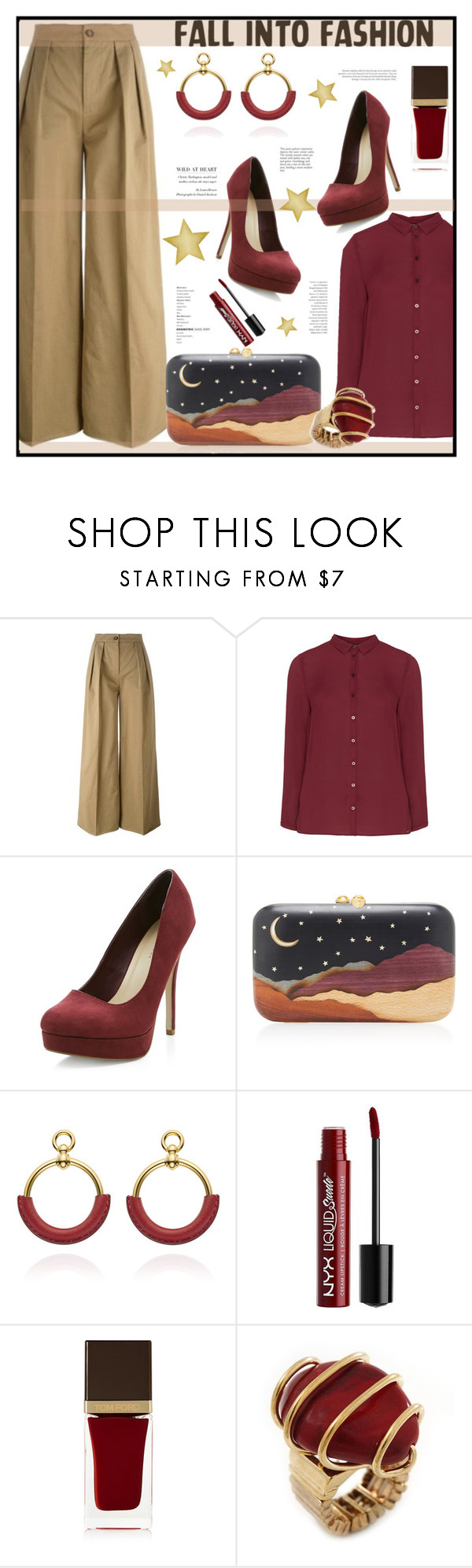 """""""Untitled #376"""" by riuk ❤ liked on Polyvore featuring Moncler, Jette, New Look, Silvia Furmanovich, Charlotte Russe and Tom Ford"""