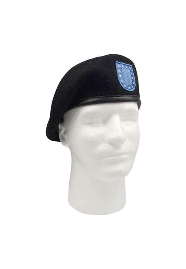 e75fde74bf7ad GI Type Black Inspection Ready Wool Beret w Blue Flash