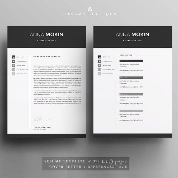 5 Pages CV / CV Template