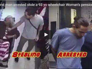 VIDEO: Roba descaradamente a una anciana de 93 años en silla de ruedas utilizando una técnica lamentable