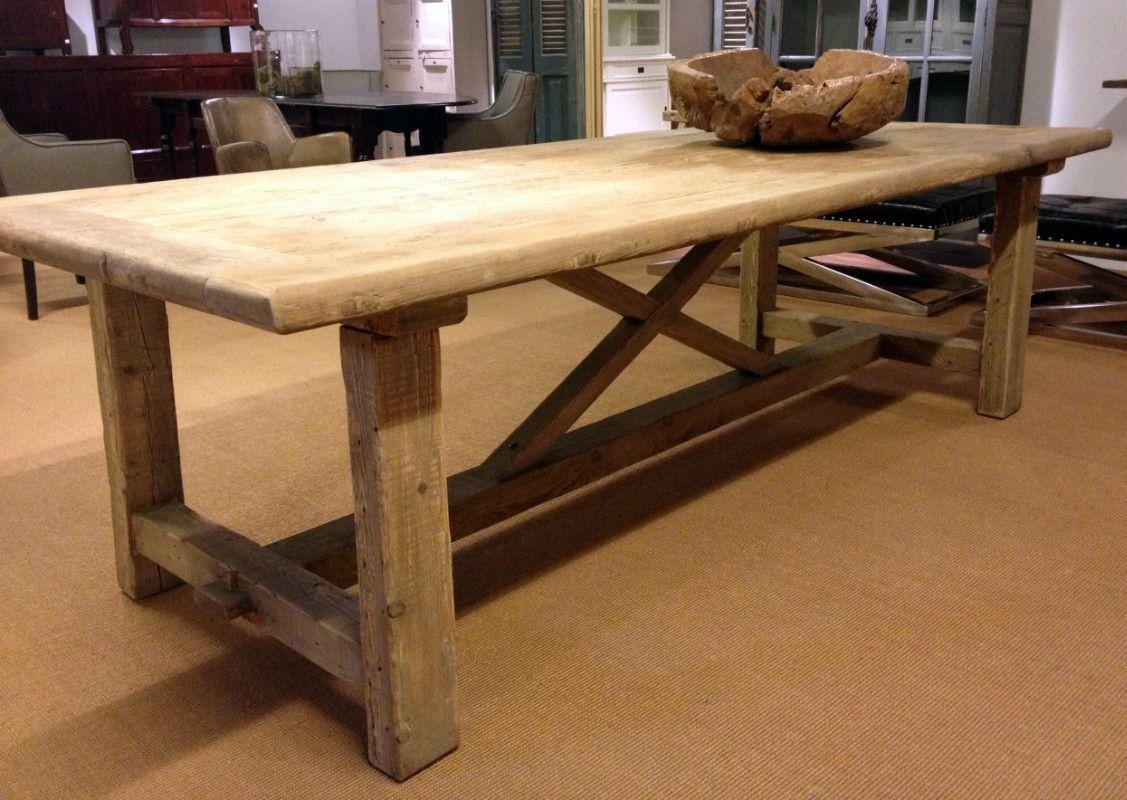 Houten tafel tafel van oud hout deze antieke houten tafel