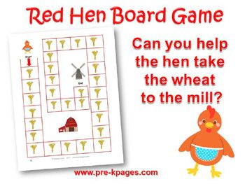 picture relating to The Little Red Hen Story Printable identify Very little Pink Bird Math nursery rhymes/fairy stories Small