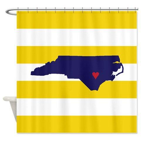 Custom State Map Striped Shower by GatheredNestDesigns on Etsy