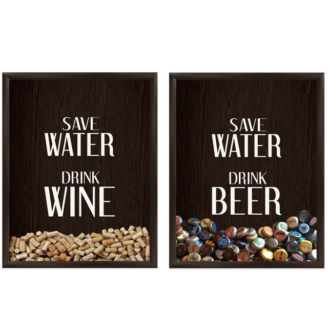 Kitchen Wall Decor Bed Bath And Beyond: Wine And Beer Cap And Cork Saver Wall Decor From Bed Bath