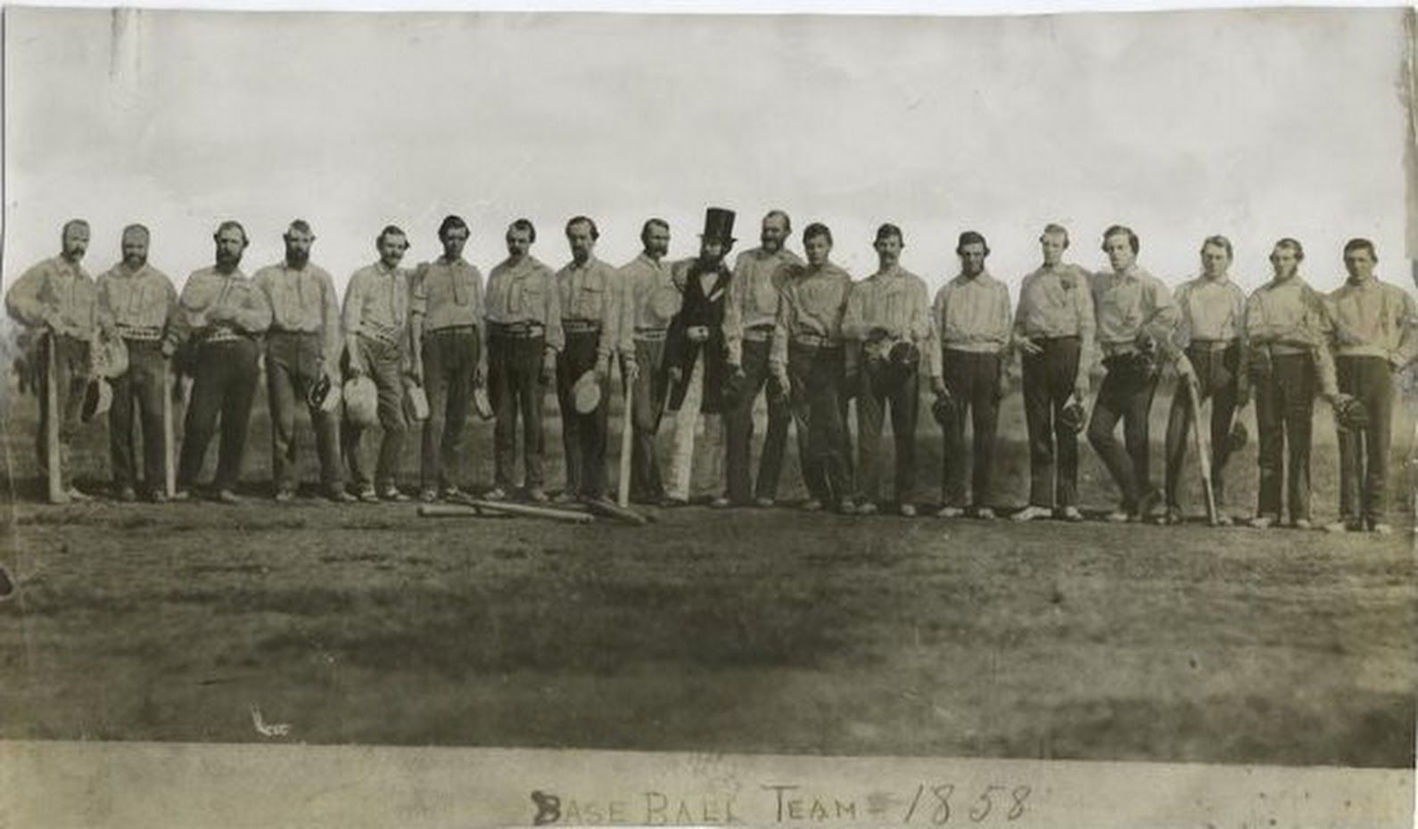 The first ever team photo in baseball history, The