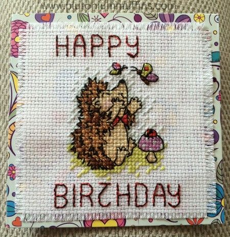 I have finished a piece of #crossstitch! Here's a little #hedgehog. #needlework #handmade