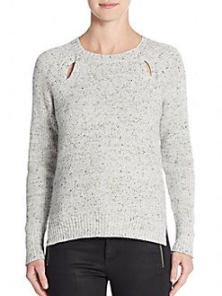 REBECCA MINKOFF Transit Cotton & Cashmere Sweater. #rebeccaminkoff #cloth #sweater