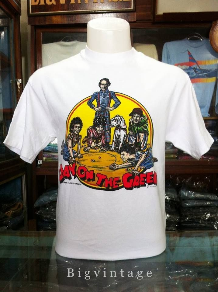 6aeeb865 สภาพดี ขนาด อก 20 ยาว 28 Vintage Rolling Stones Day On The Green Sz ...