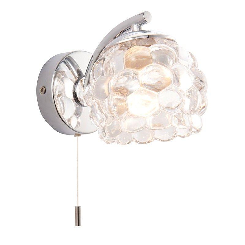 18w Chrome Ip44 Bathroom Wall Light With Pull Cord Switch Wall Lights Bathroom Wall Lights Indoor Wall Lights
