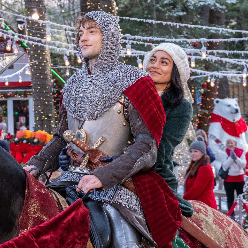 Vanessa Hudgens Is Back For Another Netflix Original Holiday Rom Com Romantic Christmas Movies Netflix Christmas Movies The Knight Before Christmas