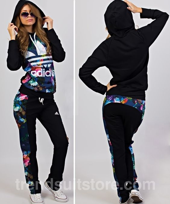 7bc5c40aec97 pants  shirt  adidas Stylish women s blue and milky sweatsuit ...