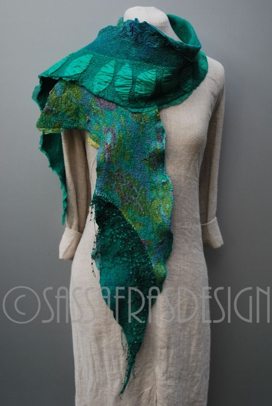 """Under the sea"" Fiber art by Claudia Burkhardt"