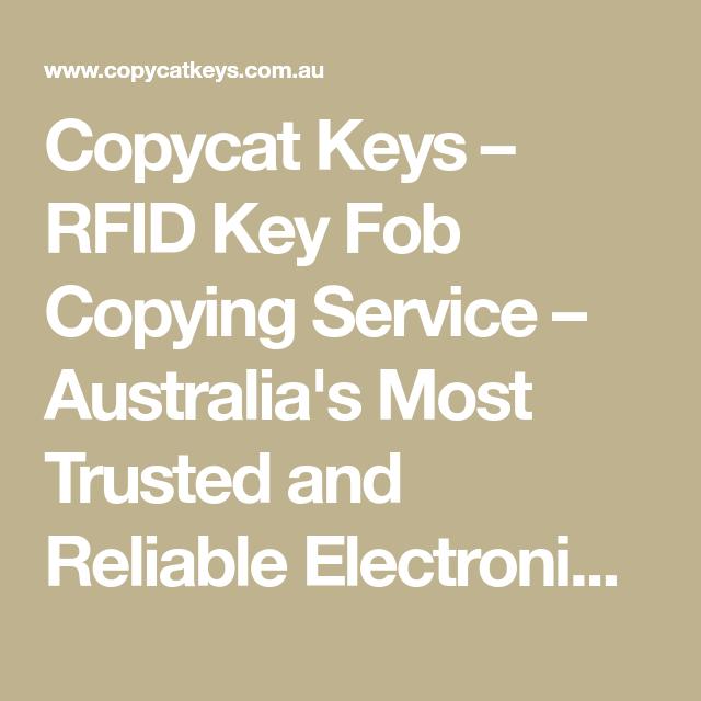 Copycat Keys – RFID Key Fob Copying Service – Australia's