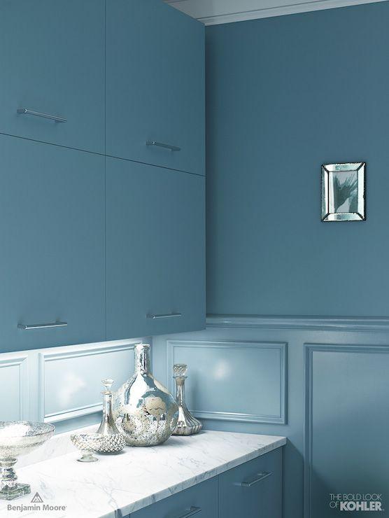 Blue Kitchen Cabinets - Contemporary - kitchen - Benjamin Moore ...