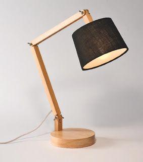 wooden desk lamp with black shade inspiring ideas pinterest wooden desk. Black Bedroom Furniture Sets. Home Design Ideas