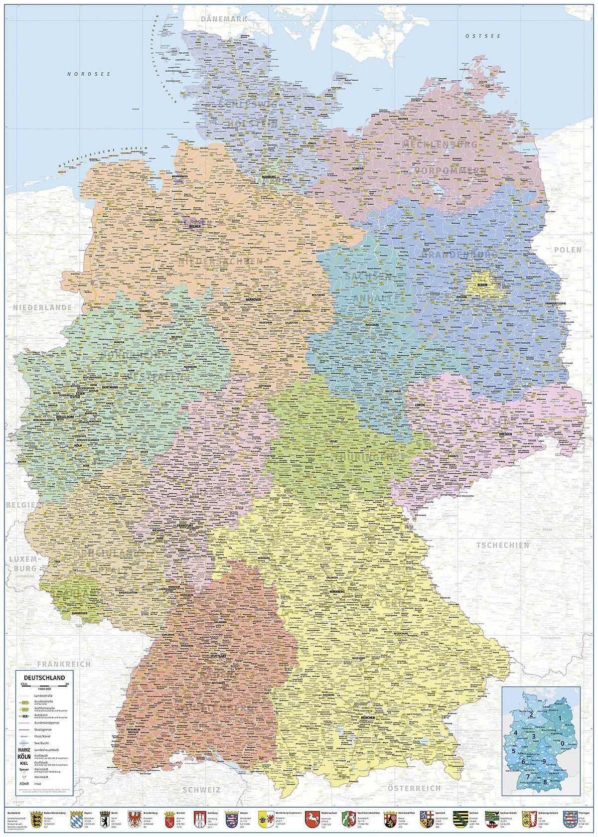 Deutschlandkarte Xxl Poster Landkarte Poster Und Landkarte