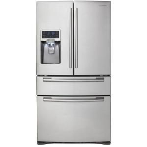 Samsung 28 Cu Ft French Door Refrigerator In Stainless Steel Rf4287hars At The Home Depot Design My Kitchen French Door Refrigerator Refrigerator
