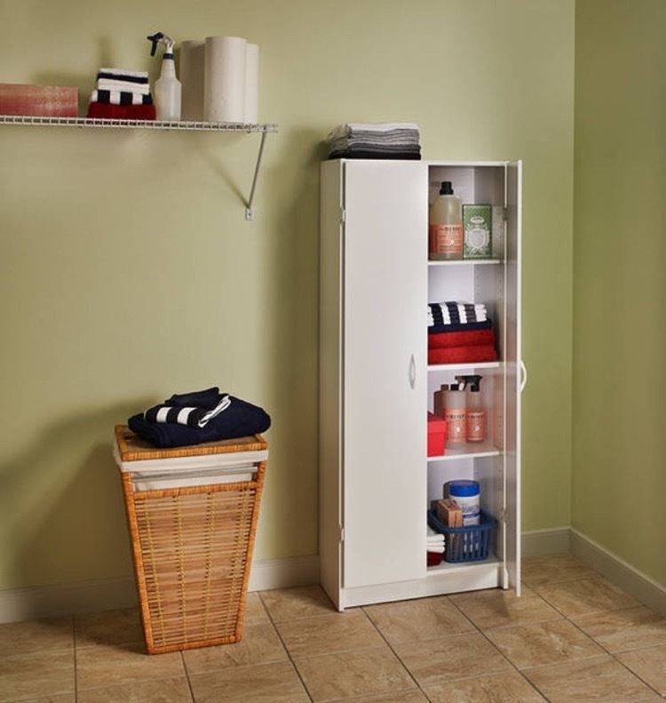 Cabinets And Storage Solutions Food Pantry Cabinet Kitchen White Garage  Laundry #ClosetMaid #Traditional