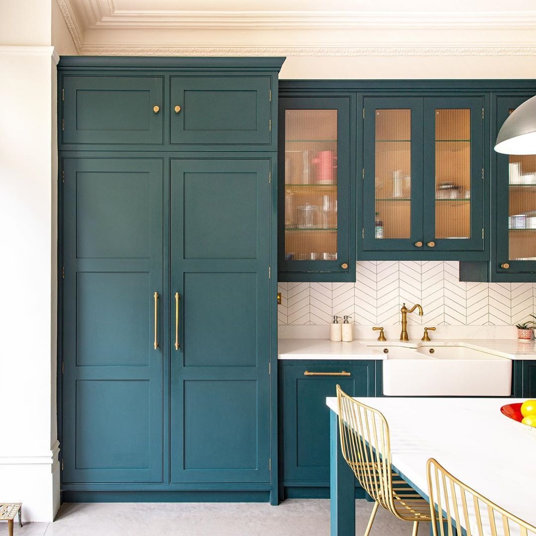 Herringbone Kitchens On Instagram Behind These Doors In 2020 Bespoke Kitchens Studio Kitchen Kitchen
