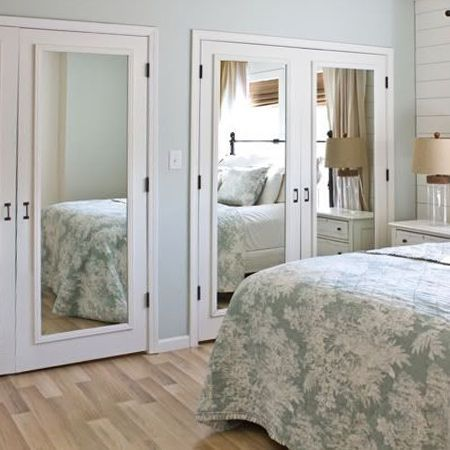 Mirrored Closet Doors For Brighter And Wider Interior Bedroom