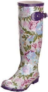 Lunar Womens Garden Floral Wellingtons Boots Funky Wellies UK