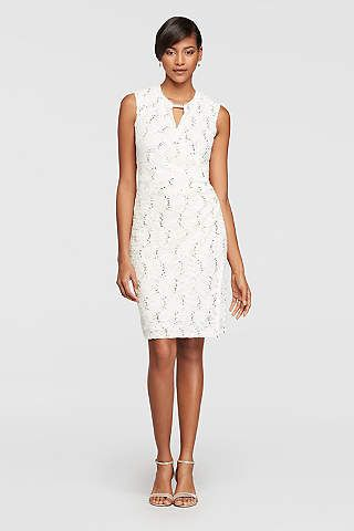dc088388c1 Little White Dresses in Various Styles & Lengths | David's Bridal ...