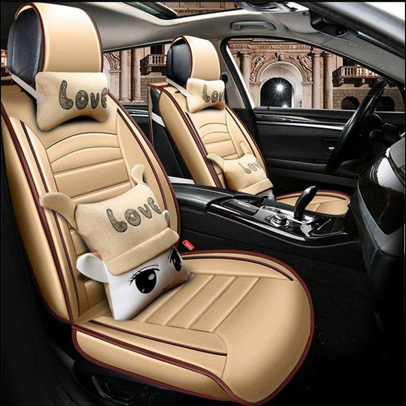Universal Car Seat Covers Auto For Accessories Toyota Prius XW20 XW30 XW50 V C Supra Future Gt86 Alphard
