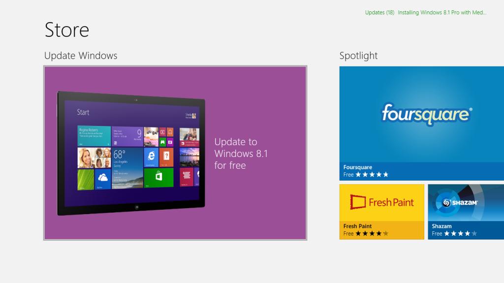 Τα Windows 8.1 είναι εδώ Windows store, Windows