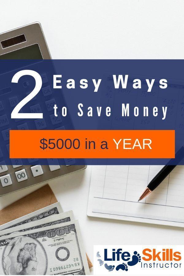 Saving: Two Ways to Save $5,000 In A Year | Money saving ...