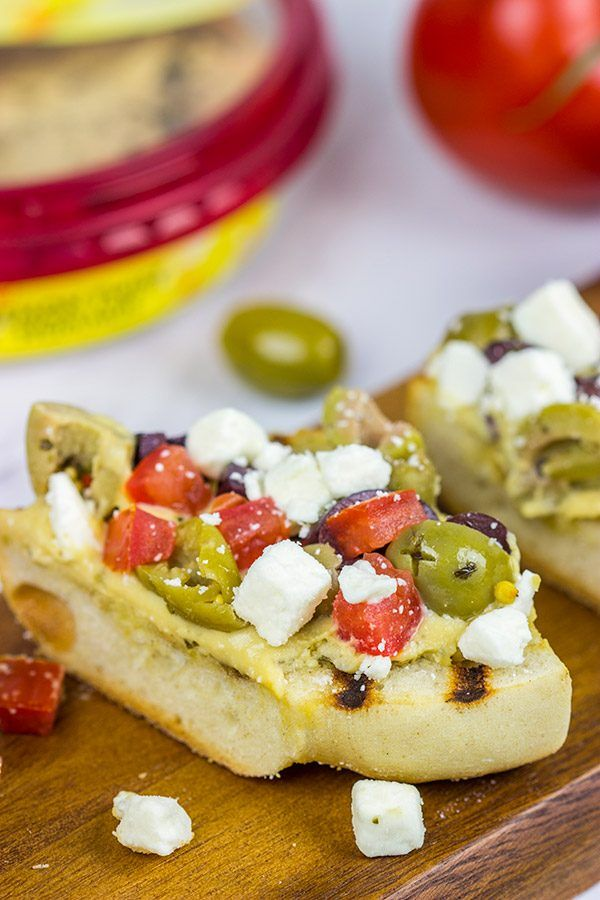 Happy #NationalHummusDay!  Let's celebrate with a {Grilled Mediterranean Baguette}! [ad] #UnofficialMeal @Sabra