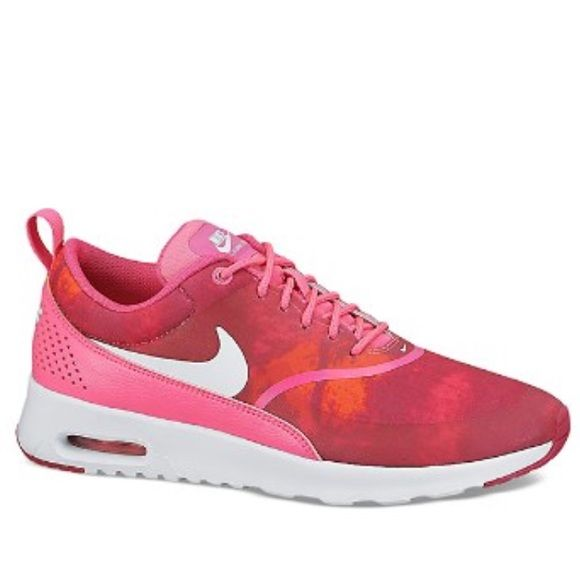 100% Authentic Nike Lace Up Sneaker - Women's Nike Brand-new never been worn: Nike Lace Up Sneaker - Women's Nike Air Max Thea Print COLOR: Red/Pink Tie Dye Nike Shoes Sneakers
