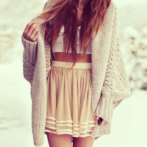Oversize me: oversized sweaters | Tumblr - skirt, nude, sweater ...