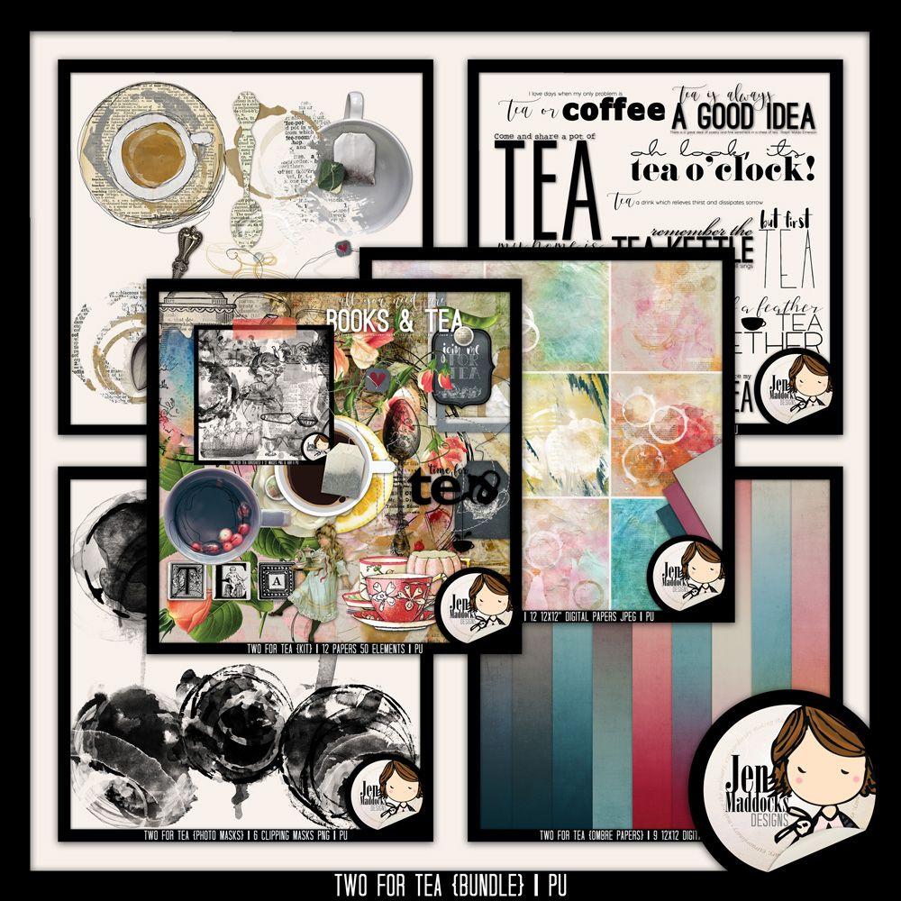 Digital Art :: Two For Tea {Bundle}