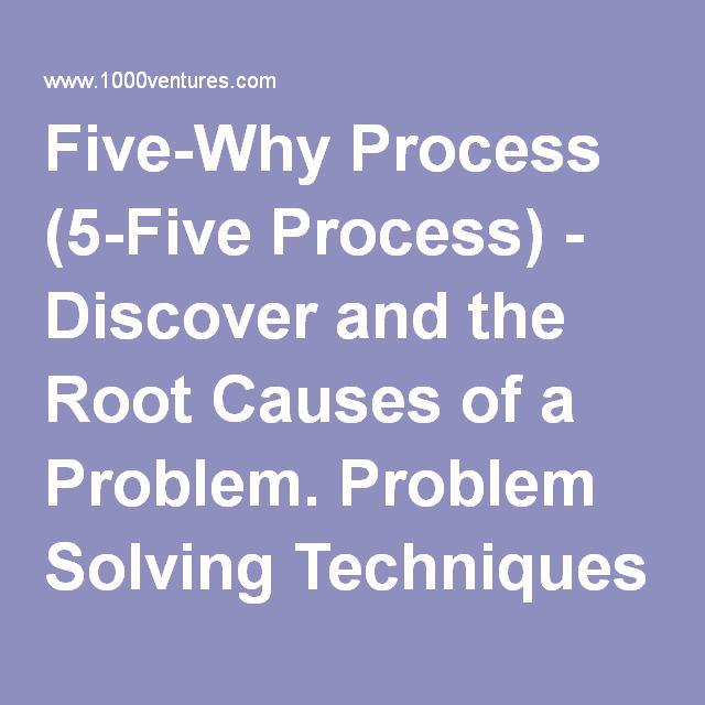 Five-Why Process (5-Five Process)