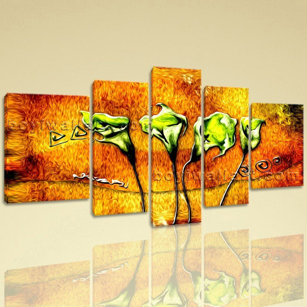 Extra large abstract acrylic flower paintings floral modern on
