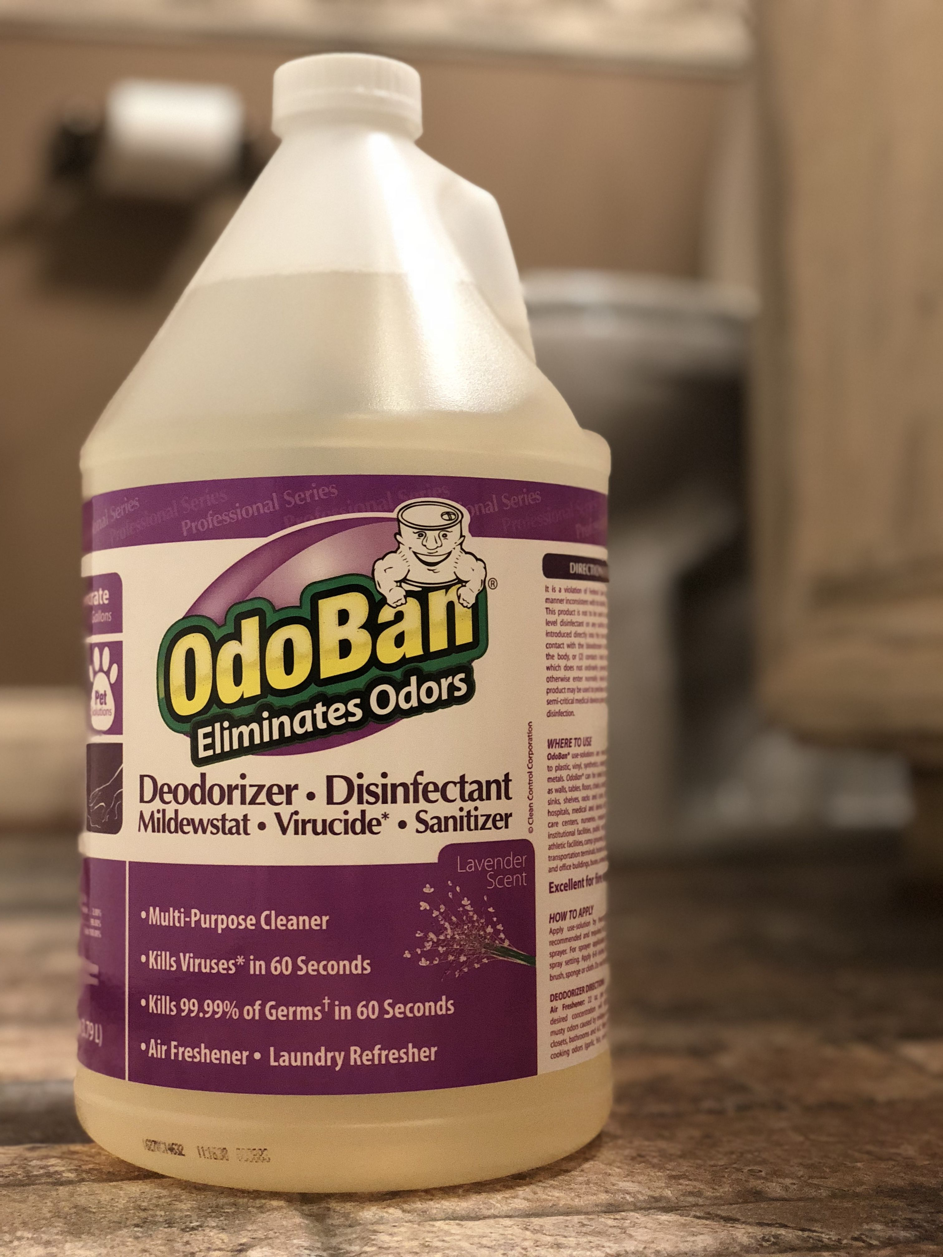 Use Odoban For Any Room In The House To Eliminate Odors And