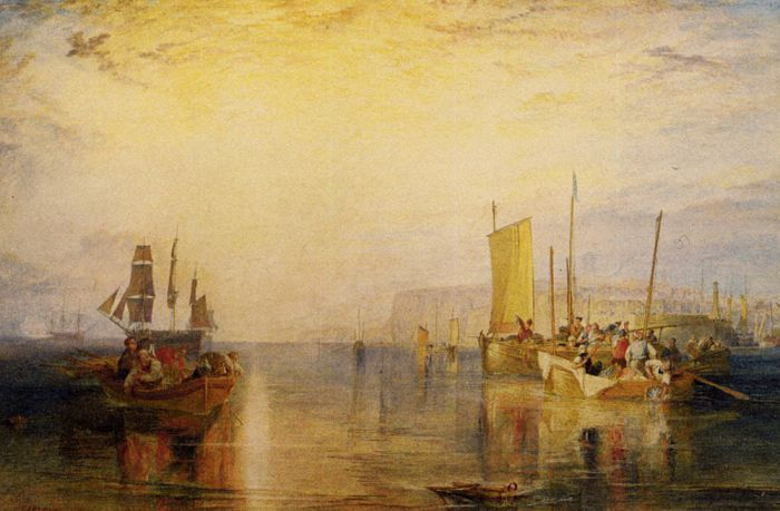 Sunrise. Whiting Fishing at Margate : Joseph Mallord William Turner : Art Scans : Scanopia