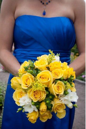 Royal Blue And Yellow Weddings