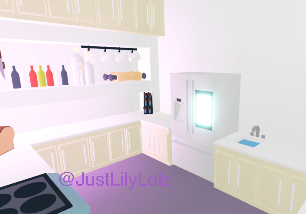 Modern cream and white kitchen adopt me builds in 2020