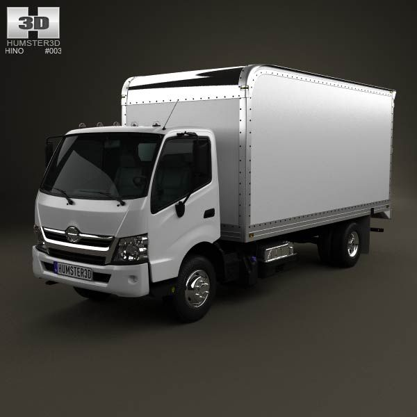 Hino 195 Hybrid Box Truck 2012 3d Model From Humster3d.com