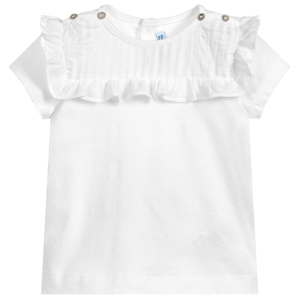 b6b8803a877c Girls White Cotton Top