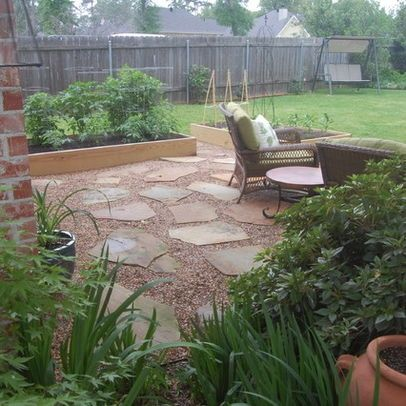 Crushed Rock Patio Ideas Crushed Granite Look For Patio Pebble