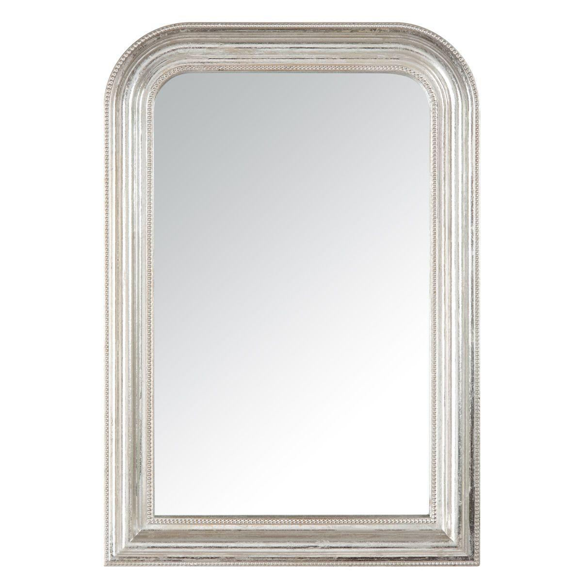 miroir argent dome perle petit mod le sb. Black Bedroom Furniture Sets. Home Design Ideas