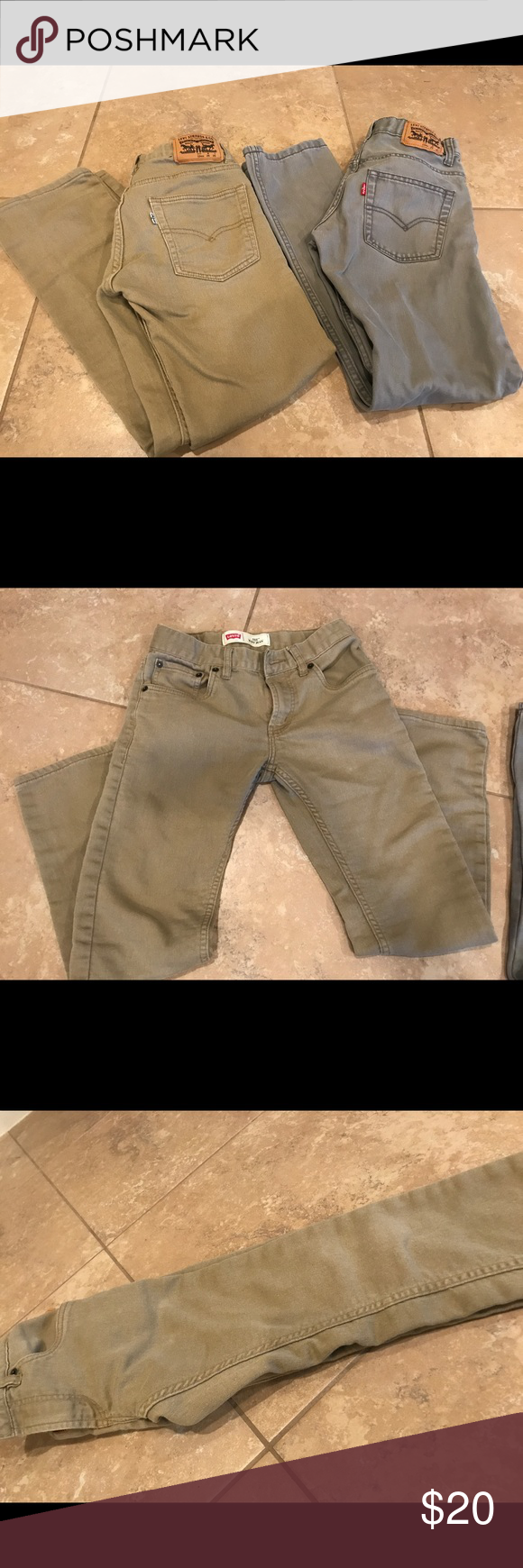 *SOLD IN BUNDLE* Levi's 512 boys jeans 2 pairs of 511 jeans size 26 or boys 16 no fading on the knees, in great condition! Levi's Bottoms Jeans