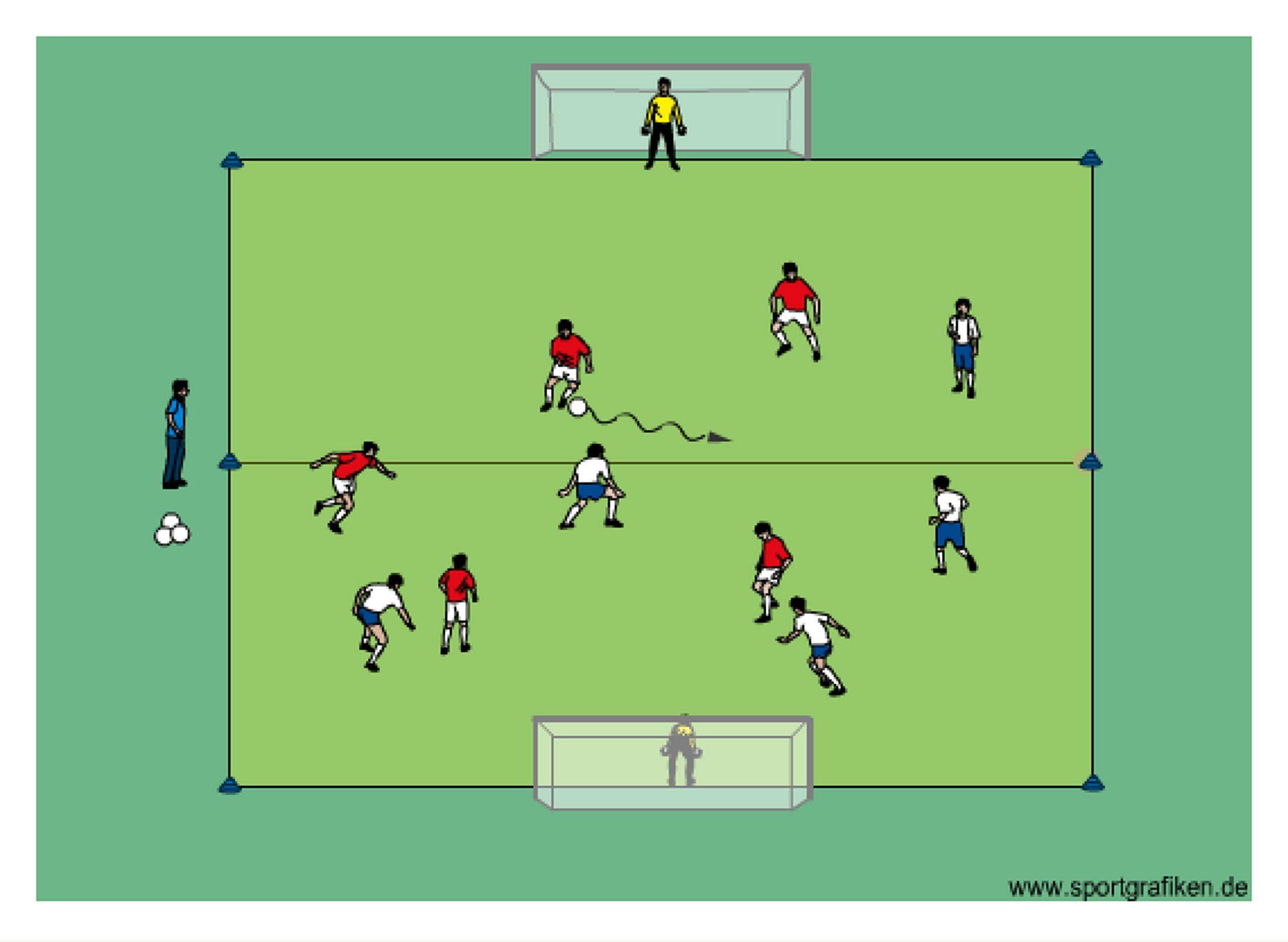 Soccer 5v5 King Player Training Drill Soccer training