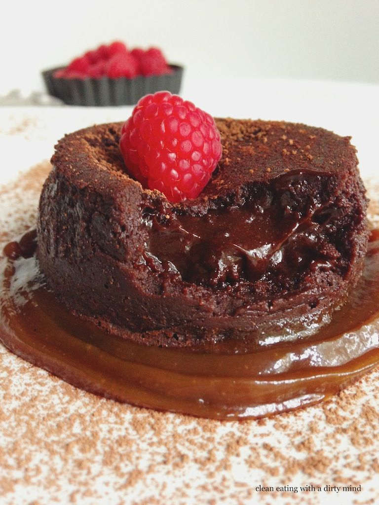 Paleo Chocolate Molten Lava Cake - a Paleo Dessert Recipe on dessertstalker #dessert #recipe #delicious #sweet #recipes
