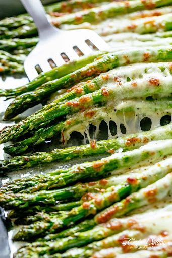 Photo of Cheesy Garlic Roasted Asparagus Recipe | Yummly